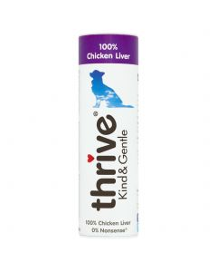 Thrive Kind & Gentle 100% Chicken Liver Dog Treats 25g Tube