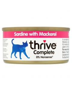 Thrive Complete Sardine with Mackerel 75g tin