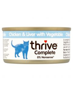 Thrive Complete Chicken & Liver with Vegetable 75g tin