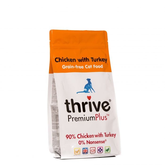 Thrive® PremiumPlus Chicken with Turkey Complete Dry Food for Cats 1.5kg