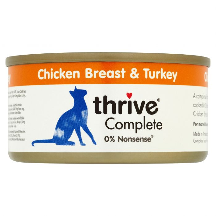 Thrive Complete 100% Chicken Breast & Turkey 75g tin