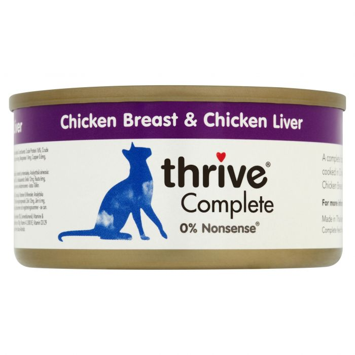 Thrive Complete 100% Chicken and Chicken Liver 75g tin