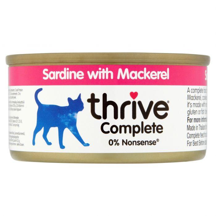 Thrive Complete Sardine with Mackerel 75g tin