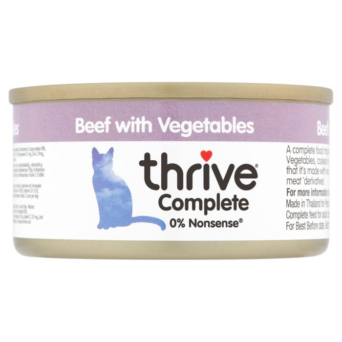 Thrive Complete Beef with Vegetable 75g tin
