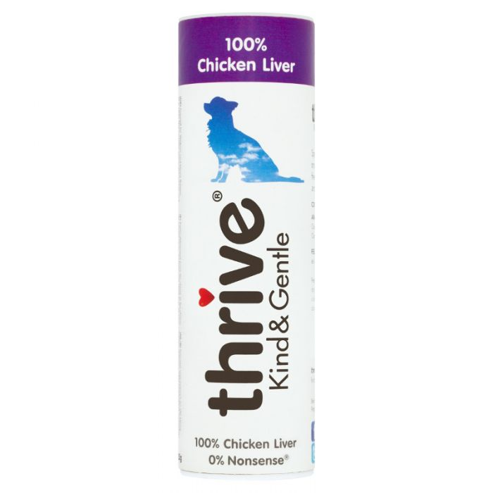 Thrive Kind & Gentle 100% Chicken Liver Dog Treats 25g Tube
